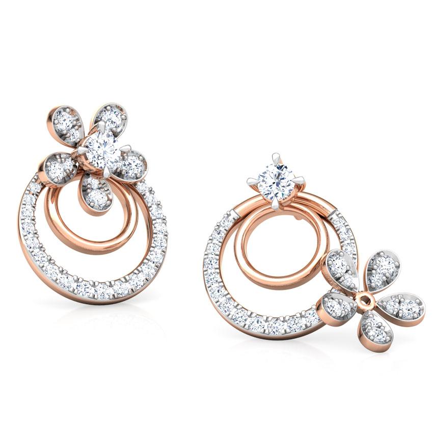 Luster Floret Solitaire Stud Earrings