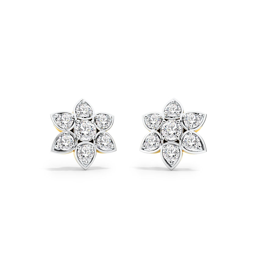Blossom Solitaire Stud Earrings