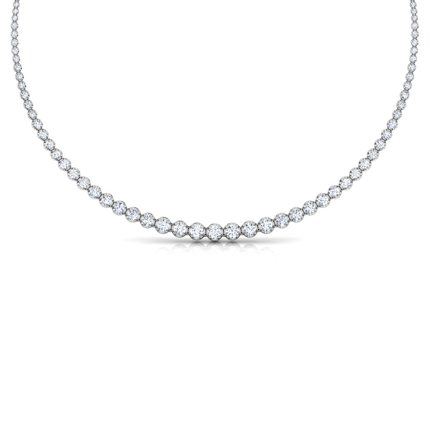 Single Line Illusion Solitaire Necklace