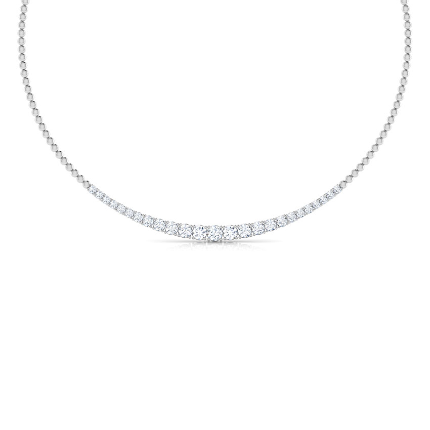 Graduating Quarter Solitaire Necklace