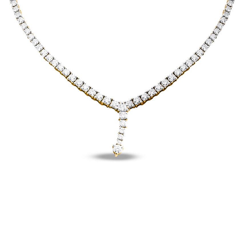 Solitaire Necklaces 18 Karat Yellow Gold All That Glitters Solitaire Necklace