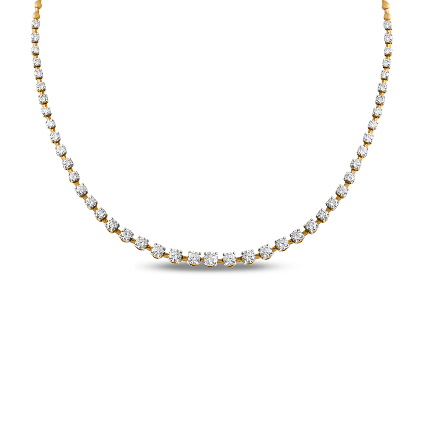 Solitaire Necklaces 18 Karat Yellow Gold Dazzled Solitaire Necklace