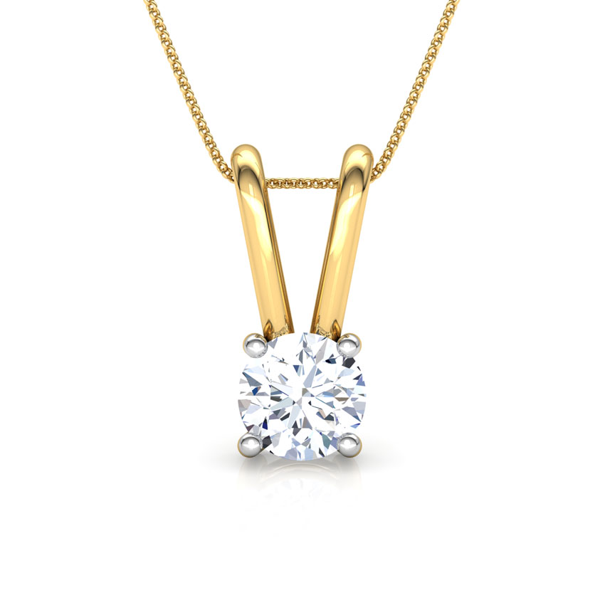 V' Loop Solitaire Pendant