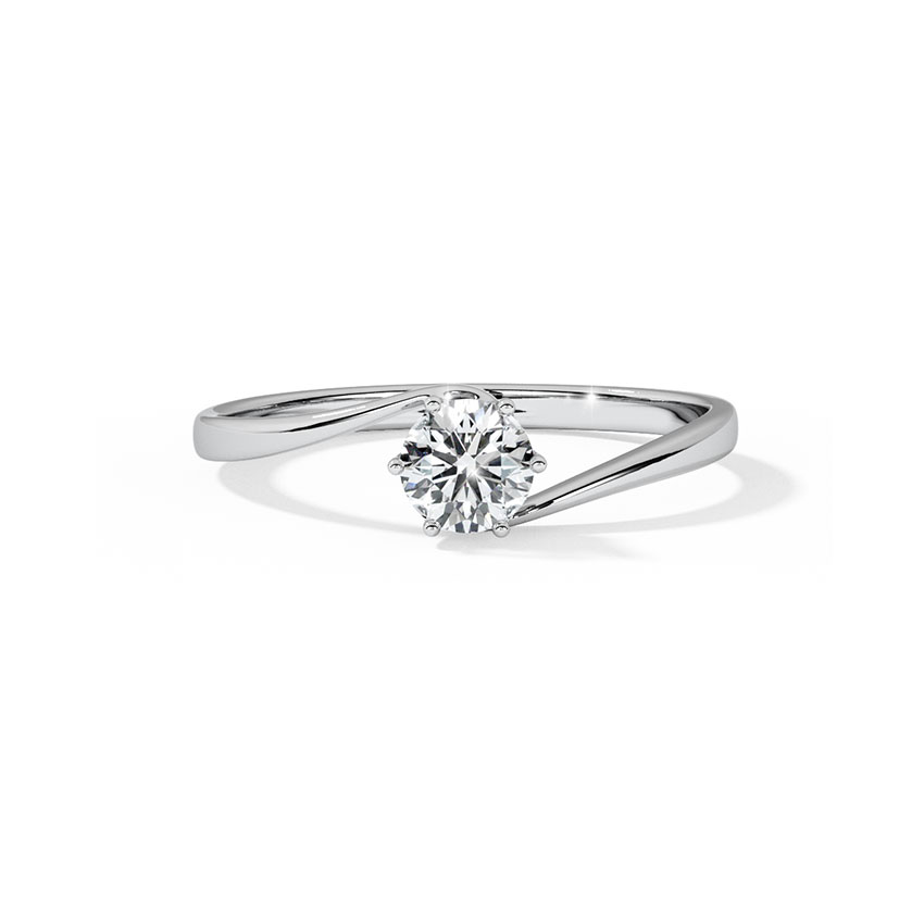 Solitaire Rings 18 Karat White Gold Promise Solitaire Ring