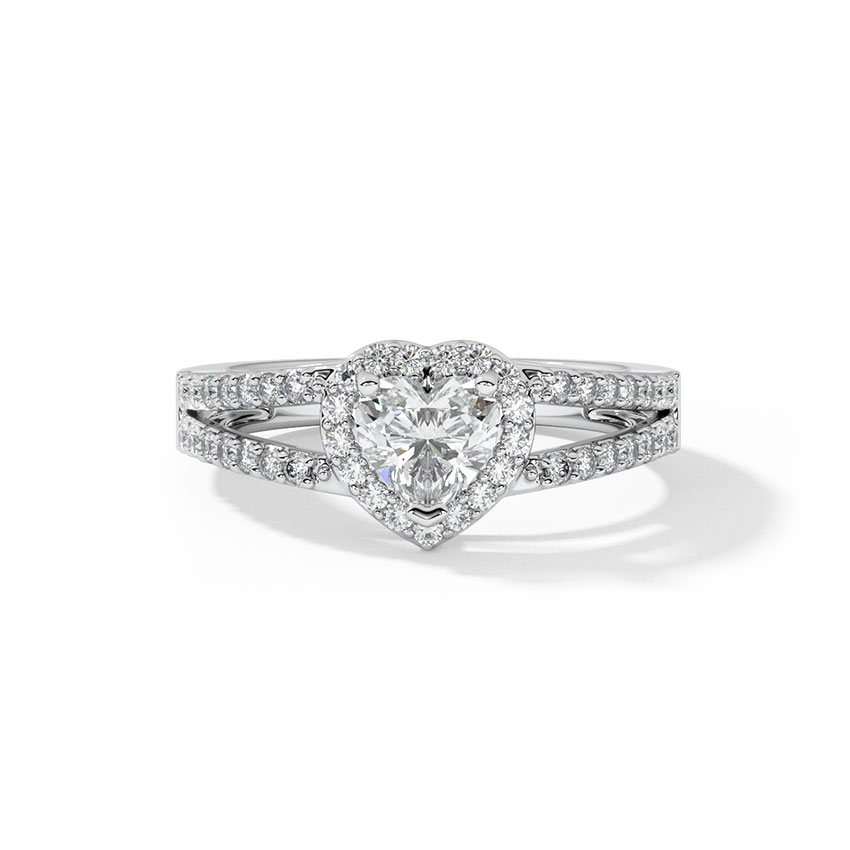 Bella Heart Solitaire Ring