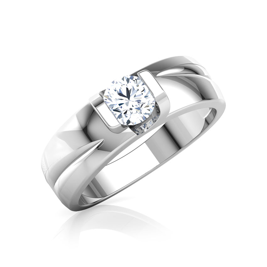 Solitaire Rings 14 Karat Yellow Gold Modus Solitaire Ring for Men