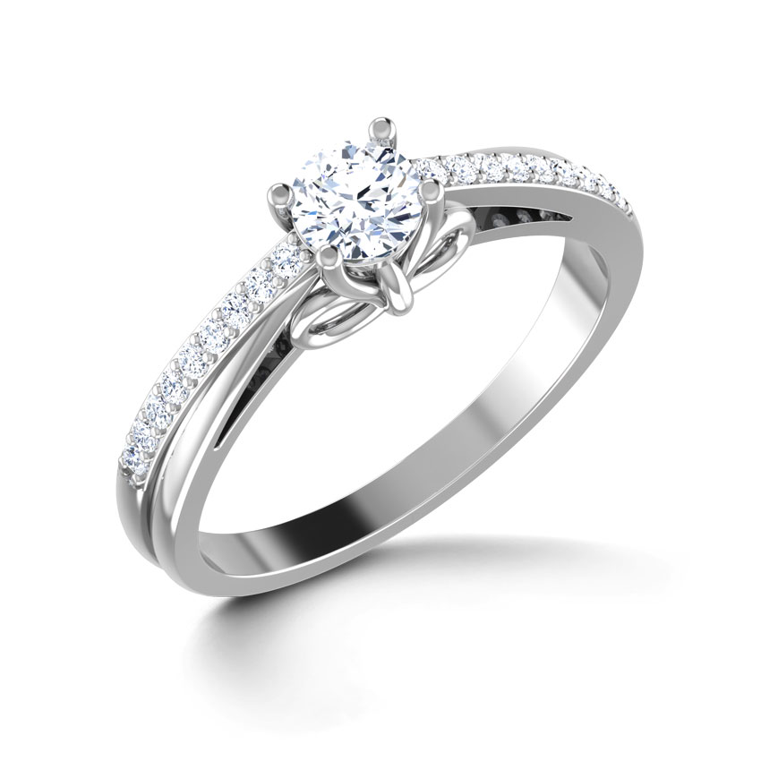 Ribbon Solitaire Ring