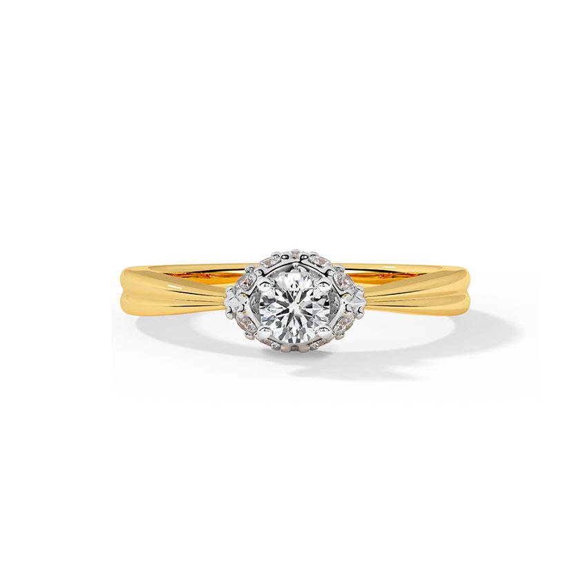 Solitaire Rings 18 Karat Yellow Gold Pinnacle Solitaire Ring