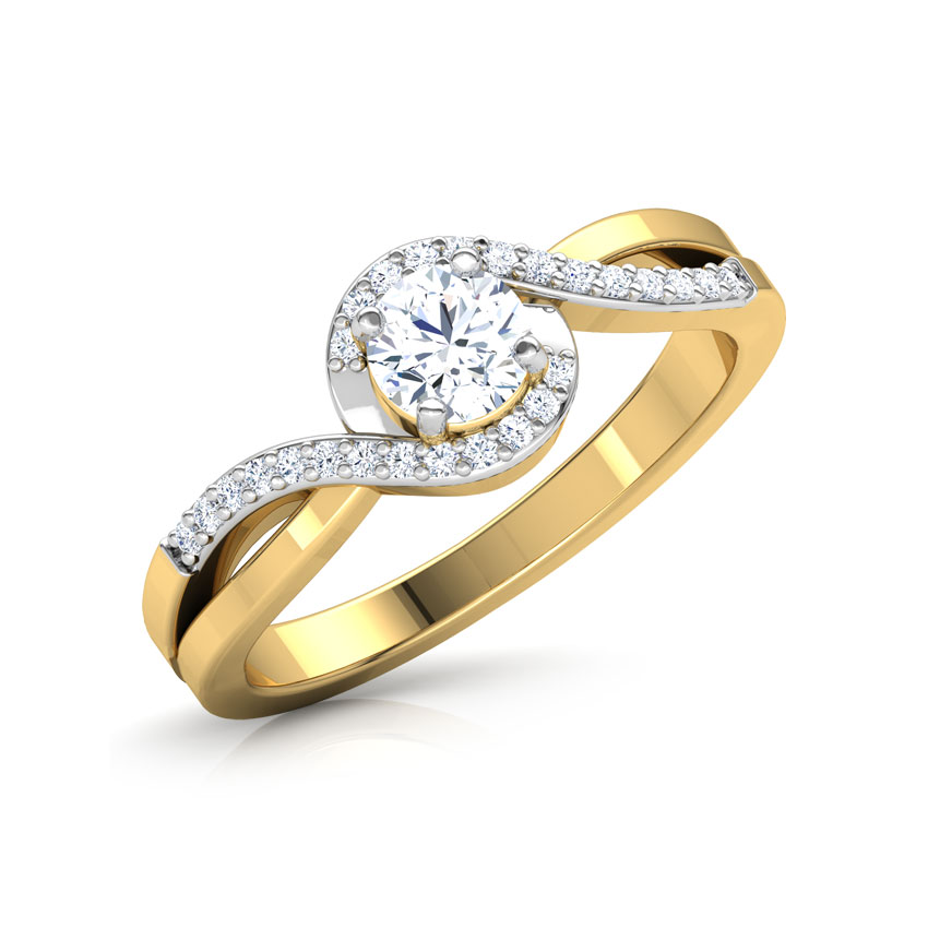 Solitaire Rings 18 Karat Yellow Gold Infinity Solitaire Ring