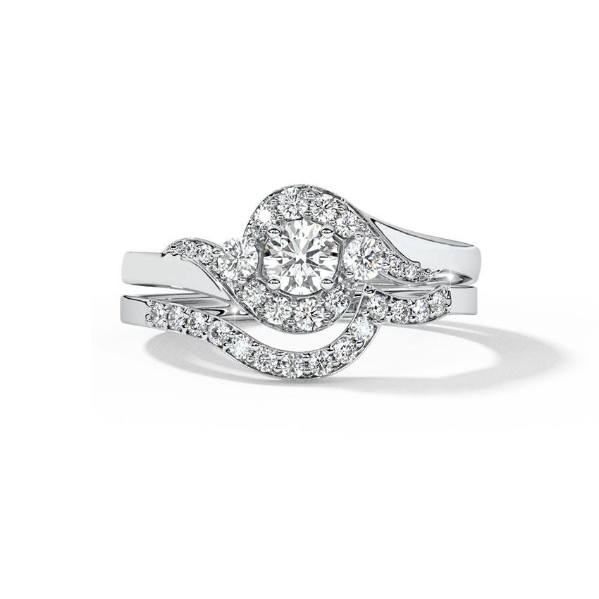 Shimmer Solitaire Bridal Ring Set