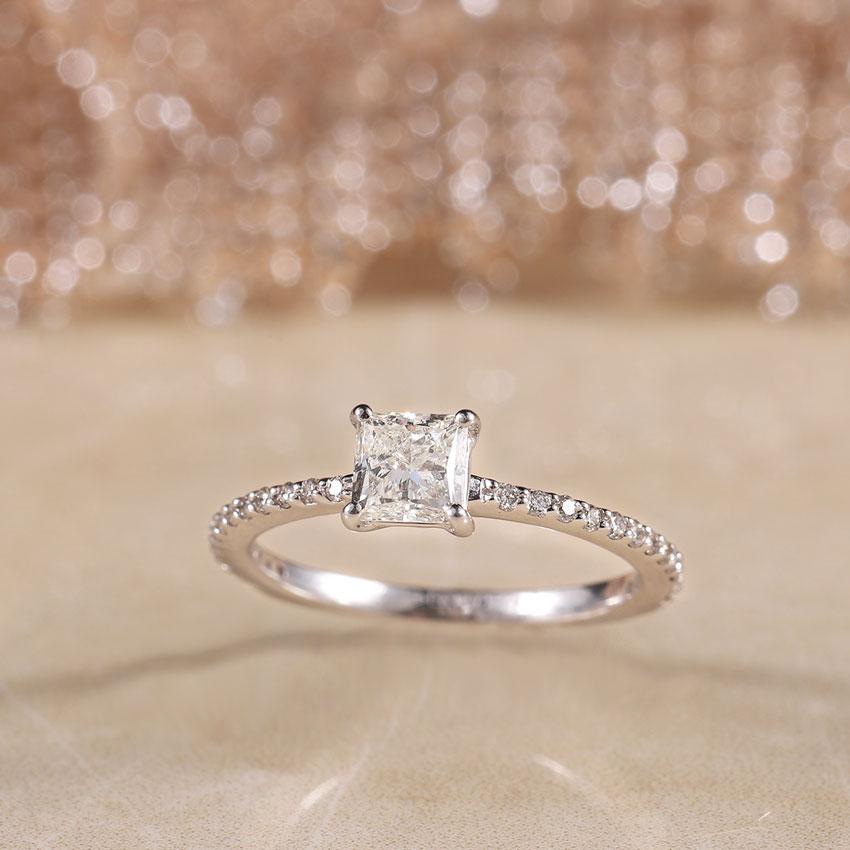 Zest Princess Solitaire Ring
