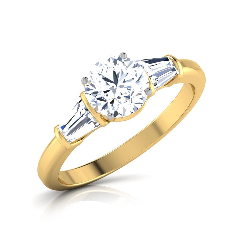 Gleem Baguette Solitaire Ring