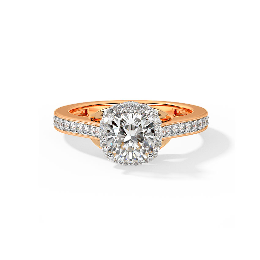 Queen of Diamonds Solitaire Ring