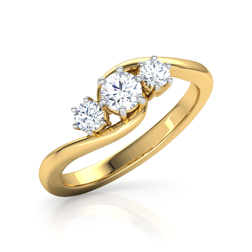 Solitaire Rings 14 Karat Yellow Gold Hamesha Solitaire Ring