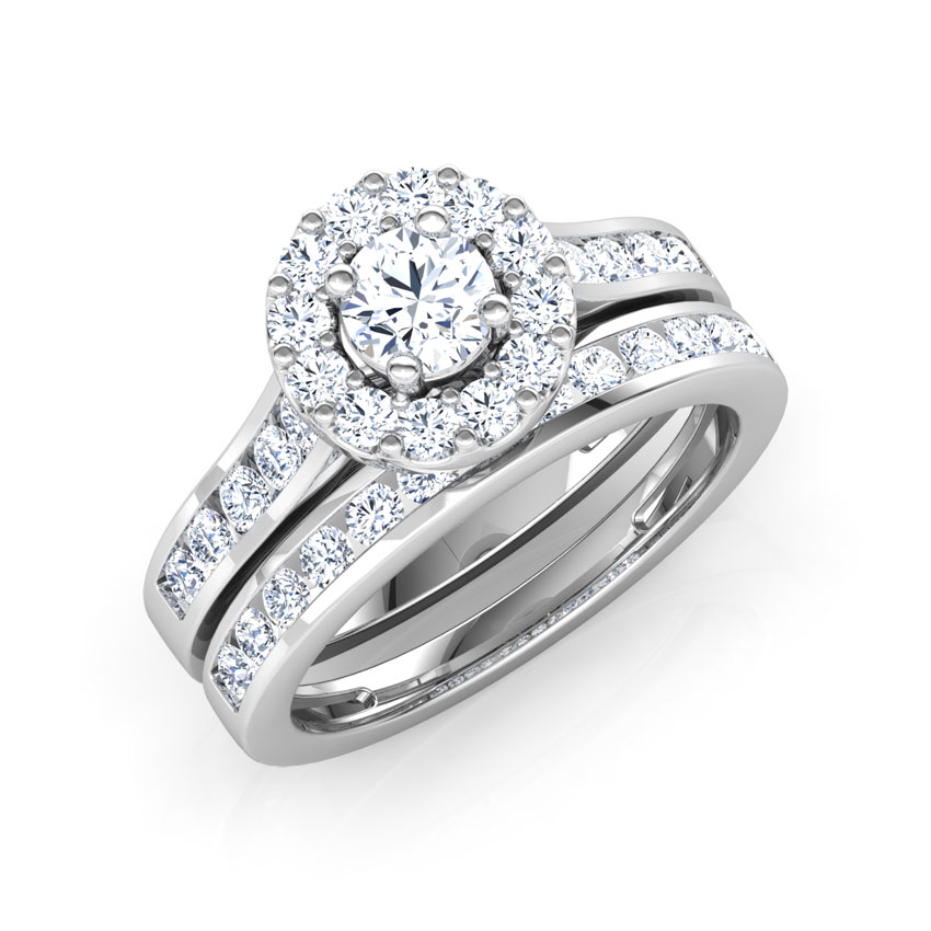 Dazzling Solitaire Bridal Ring Set