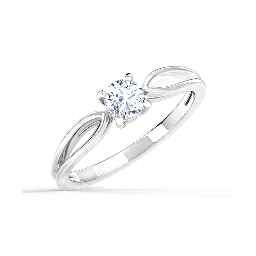 Solitaire Rings 18 Karat White Gold Yue Gold Pear Solitaire Ring