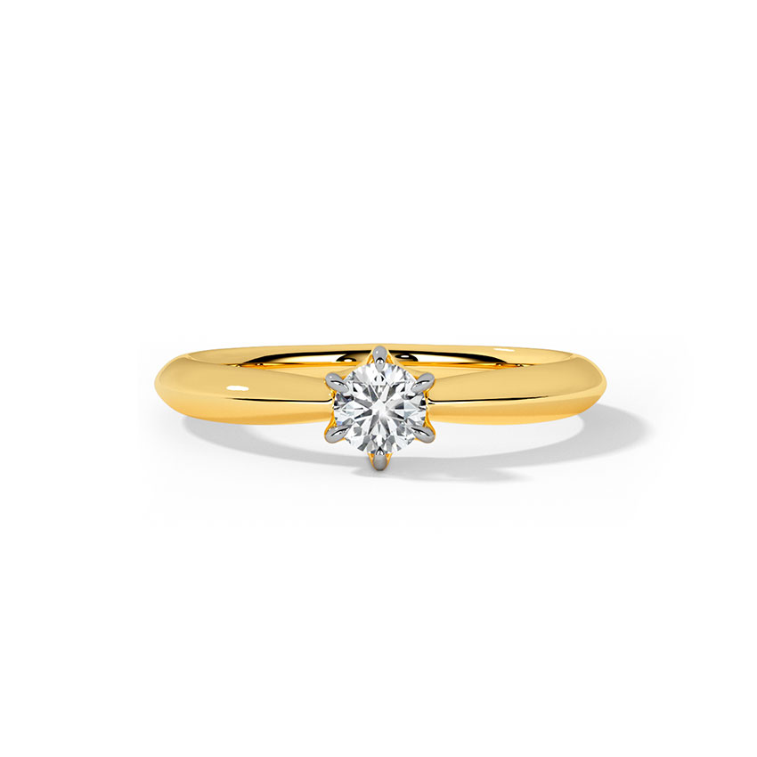 Cati Swanky Solitaire Ring