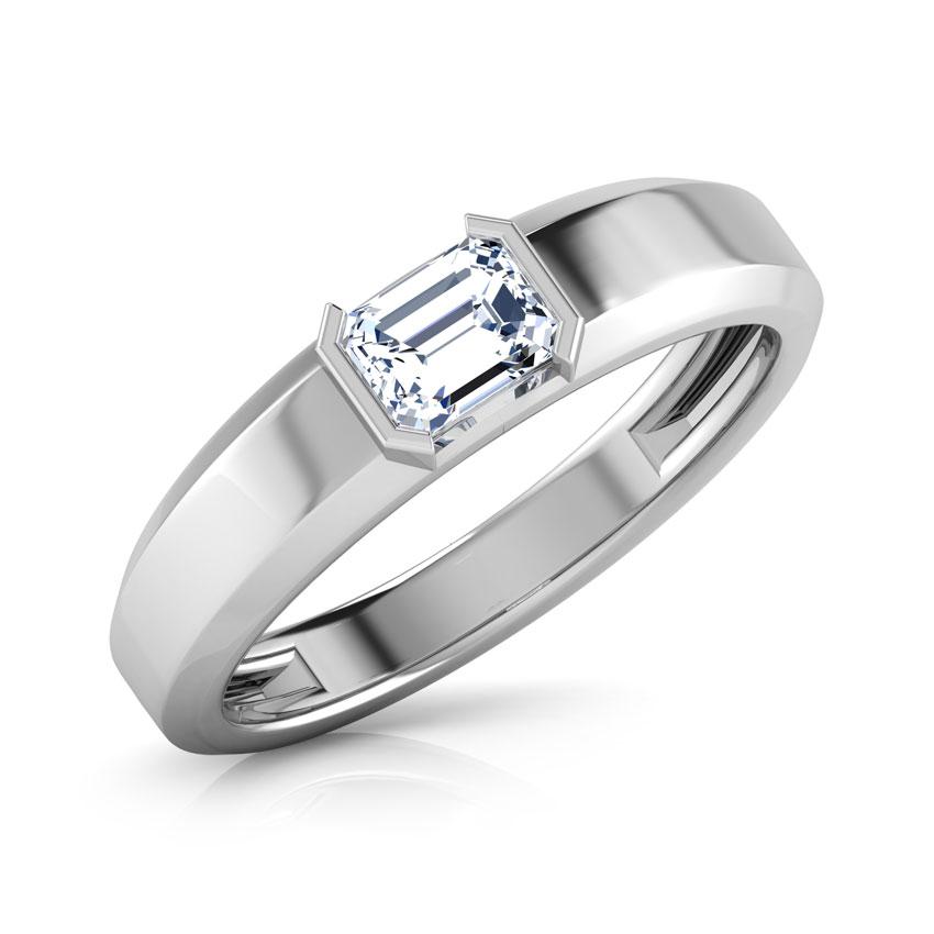Solitaire Rings Platinum 950 Platinum Ben Solitaire Ring for Men