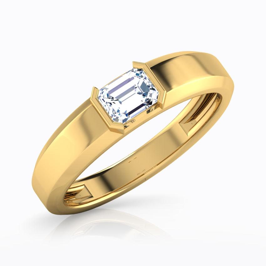 Solitaire Rings 18 Karat Yellow Gold Ben Solitaire Ring for Men