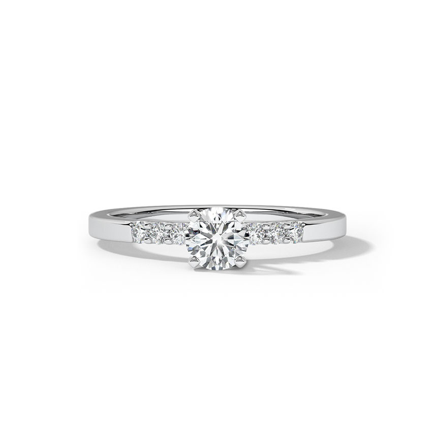 Solitaire Rings 18 Karat White Gold Liza Classic Solitaire Ring