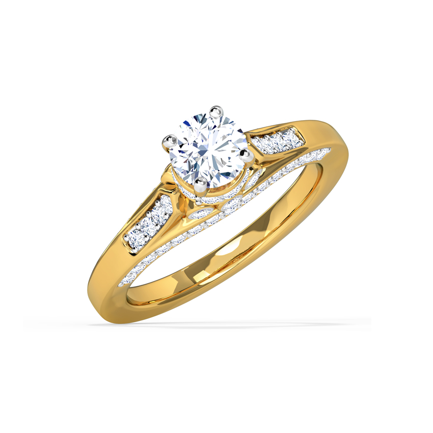 Solitaire Rings 18 Karat Yellow Gold Jenna Elegant Solitaire Ring