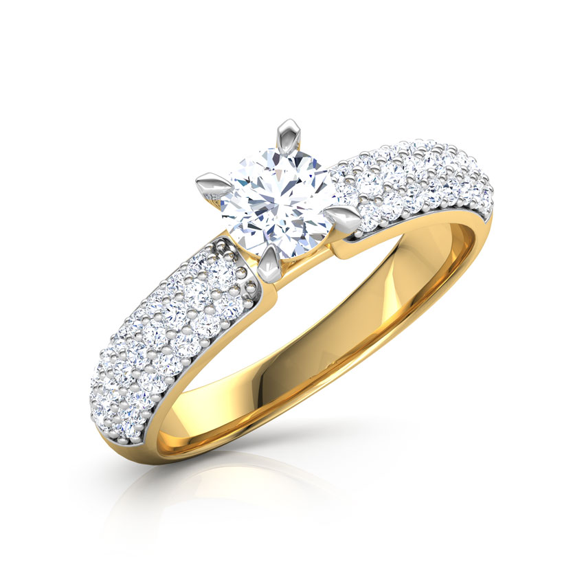 Solitaire Rings 14 Karat Yellow Gold Ruth Elegant Solitaire Ring