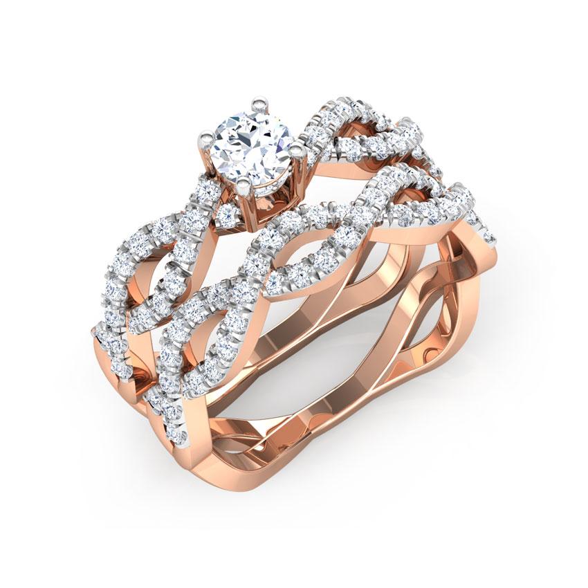 Shimmer Bridal Ring Set