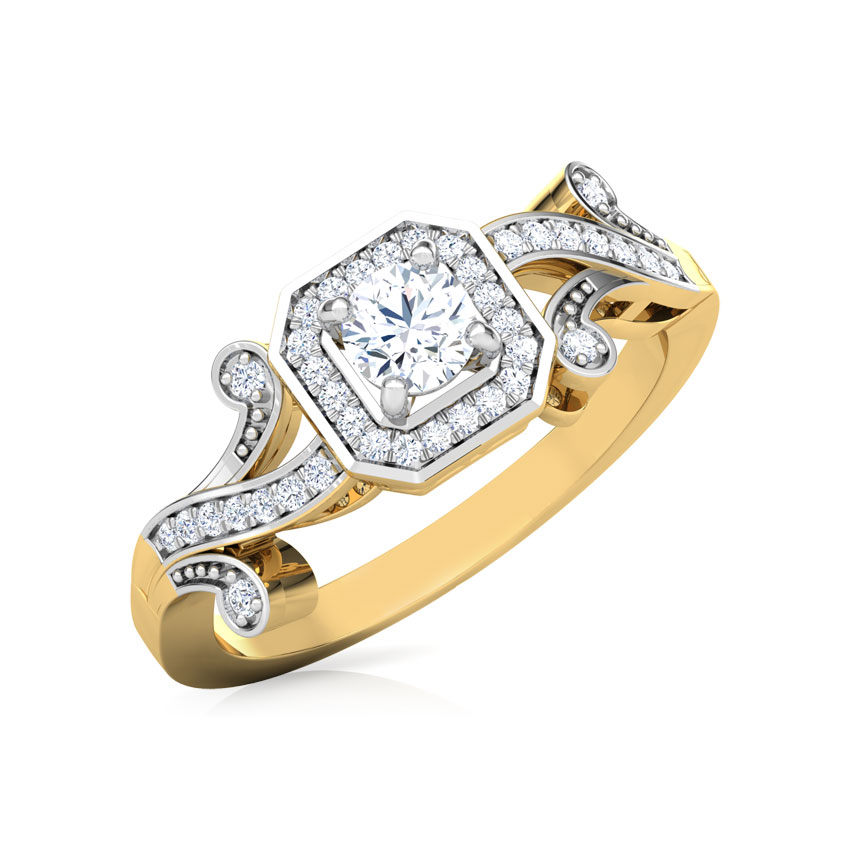 Solitaire Rings 18 Karat Yellow Gold Vintage Solitaire Ring