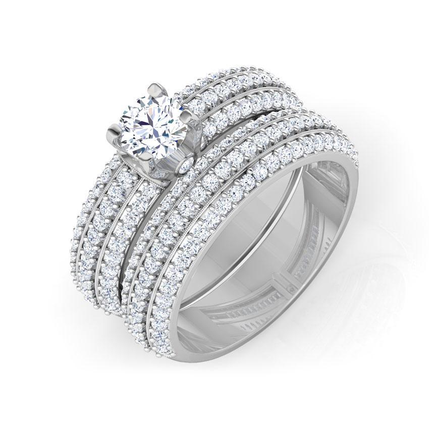 Lustre Bridal Ring Set
