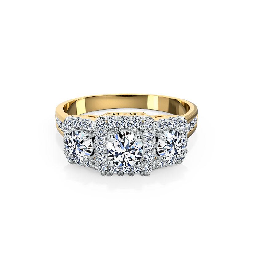 Jemma Quad Solitaire Ring