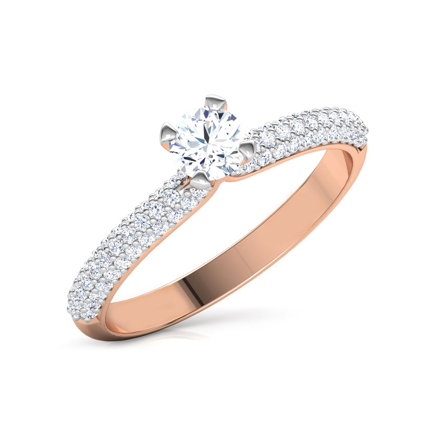 Solitaire Rings 18 Karat Rose Gold Katy Classic Solitaire Ring