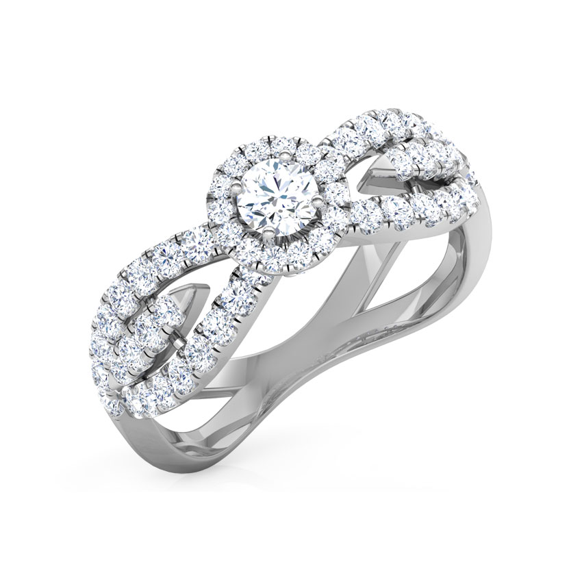 Tiara Twine Solitaire Ring
