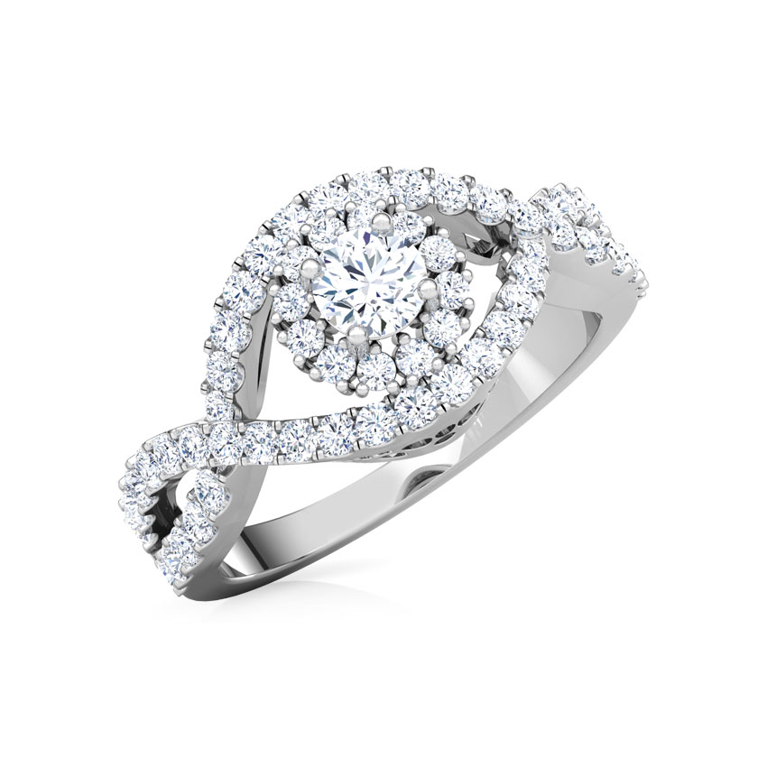 Aura Weave Solitaire Ring