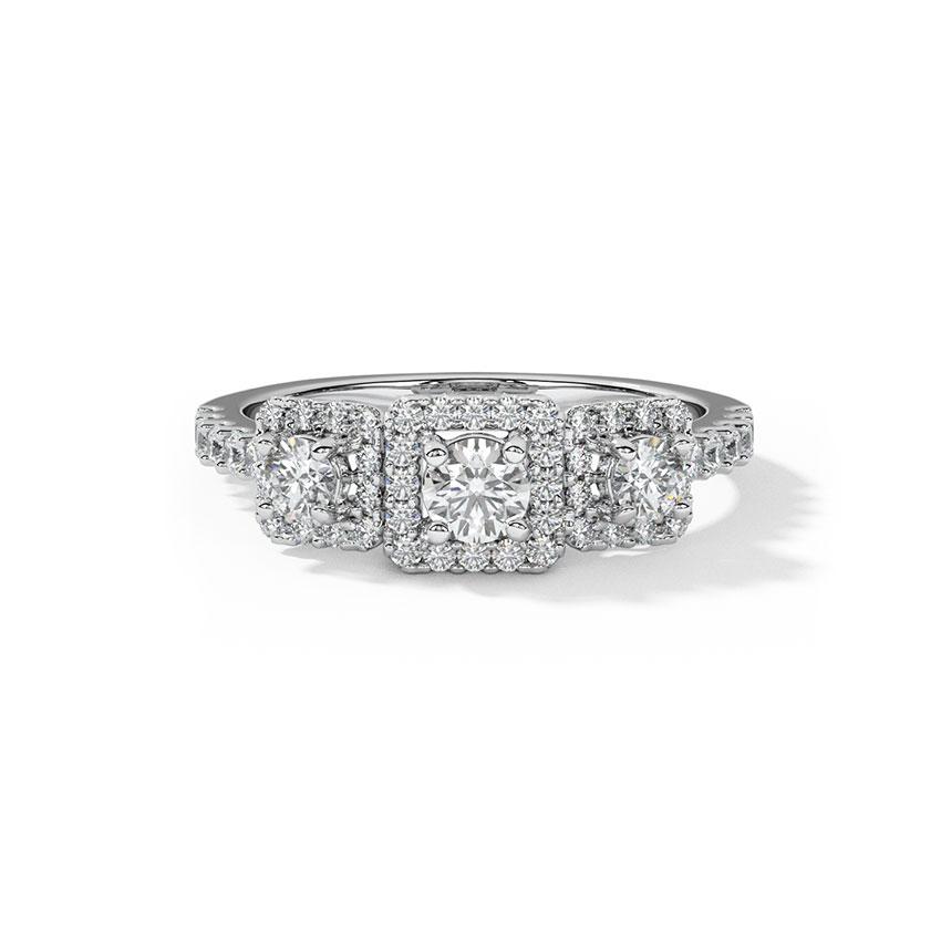 Beth Quad Solitaire Ring
