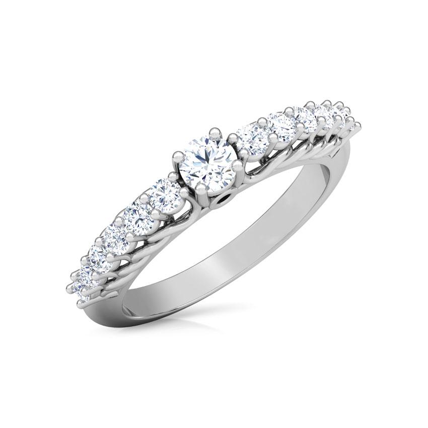 Hazel Braid Solitaire Ring