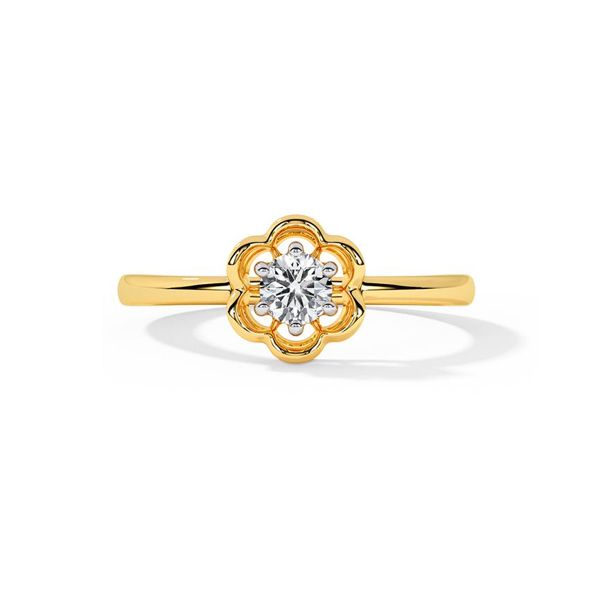 Eden Floret Solitaire Ring