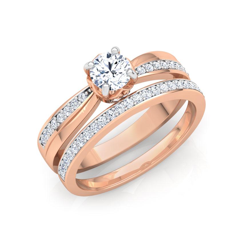 Glitter Bridal Ring Set