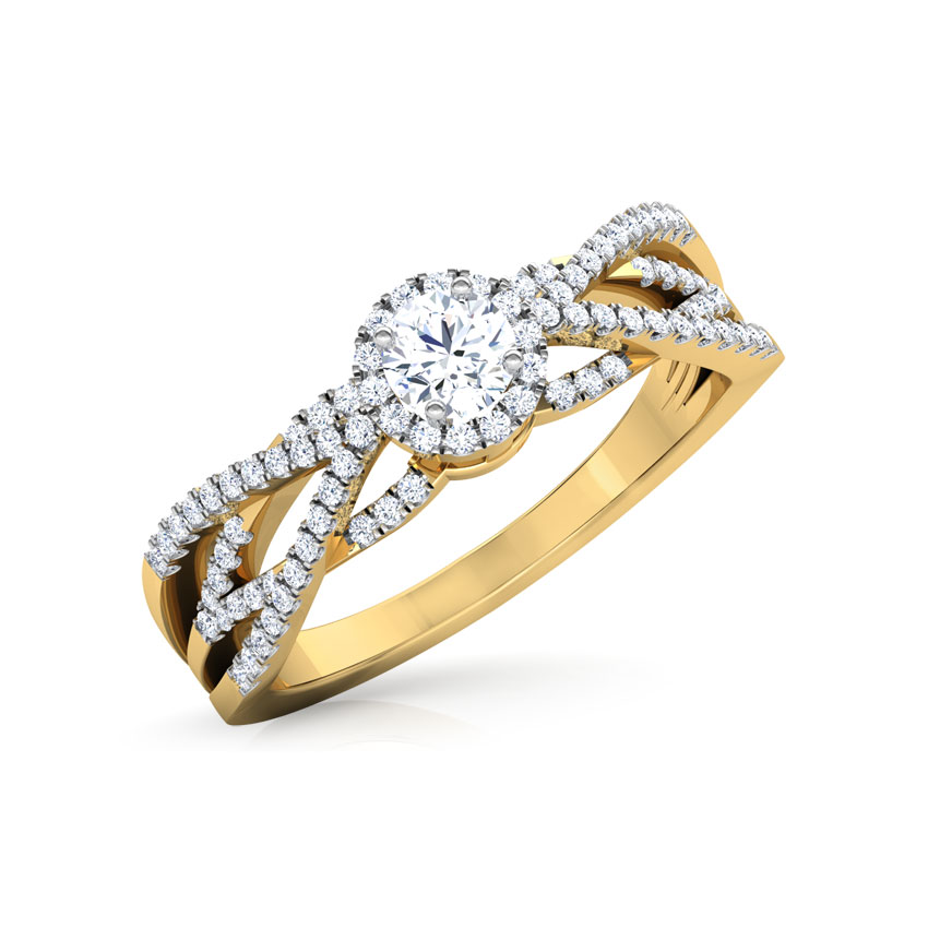 Solitaire Rings 18 Karat Yellow Gold Nina Twine Solitaire Ring