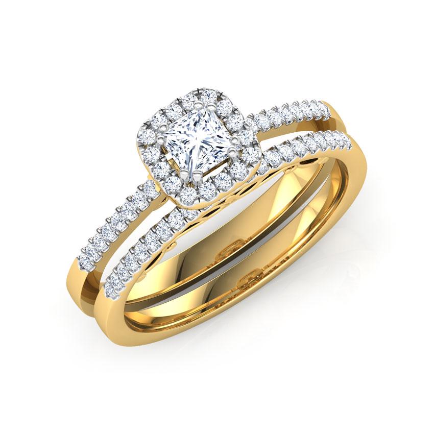 Luminous Solitaire Bridal Ring Set