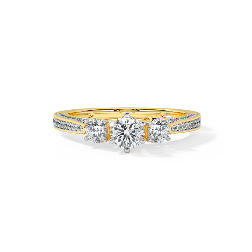 Julia Three Stone Solitaire Ring