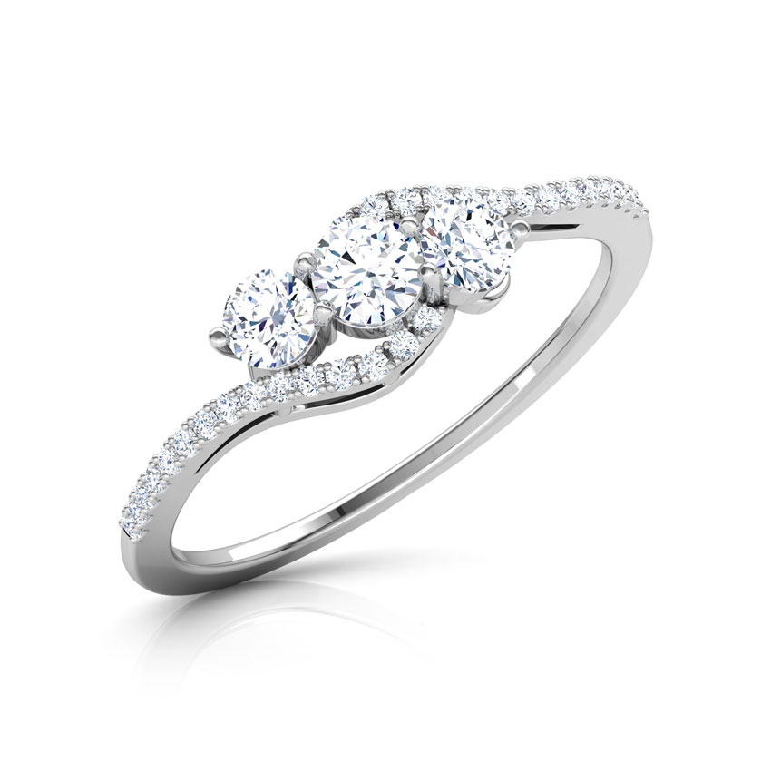 Solitaire Rings 14 Karat White Gold Ariel Arch Solitaire Ring
