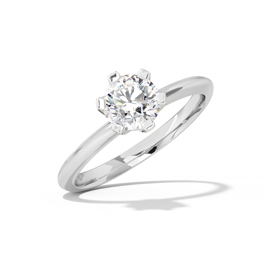 Nysa Hearts & Arrows Solitaire Ring