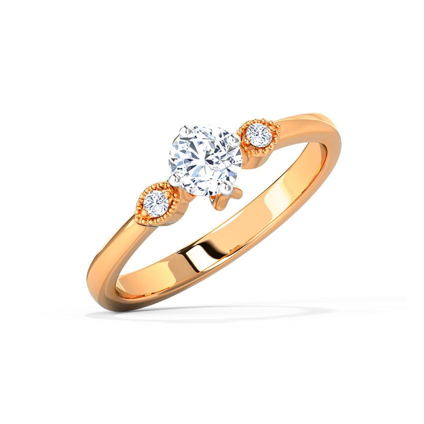 Solitaire Rings 18 Karat Rose Gold Leena Lucid Solitaire Ring