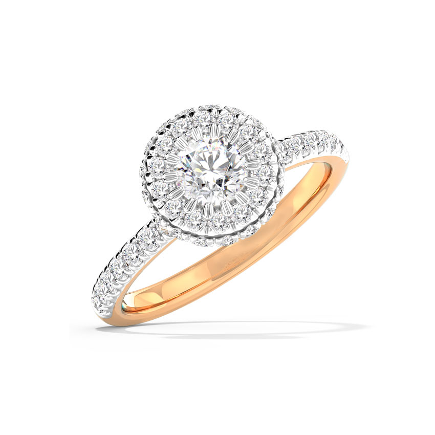 Solitaire Rings 14 Karat Rose Gold Anika Hearts & Arrows Solitaire Ring