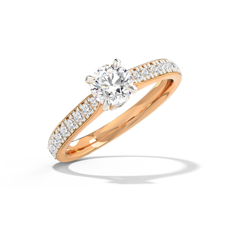Inaya Hearts & Arrows Solitaire Ring