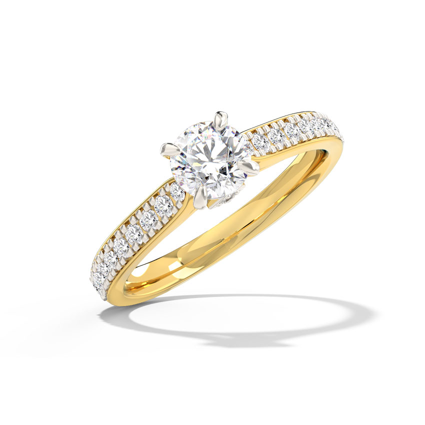 Inaya Hearts & Arrows Solitaire Ring