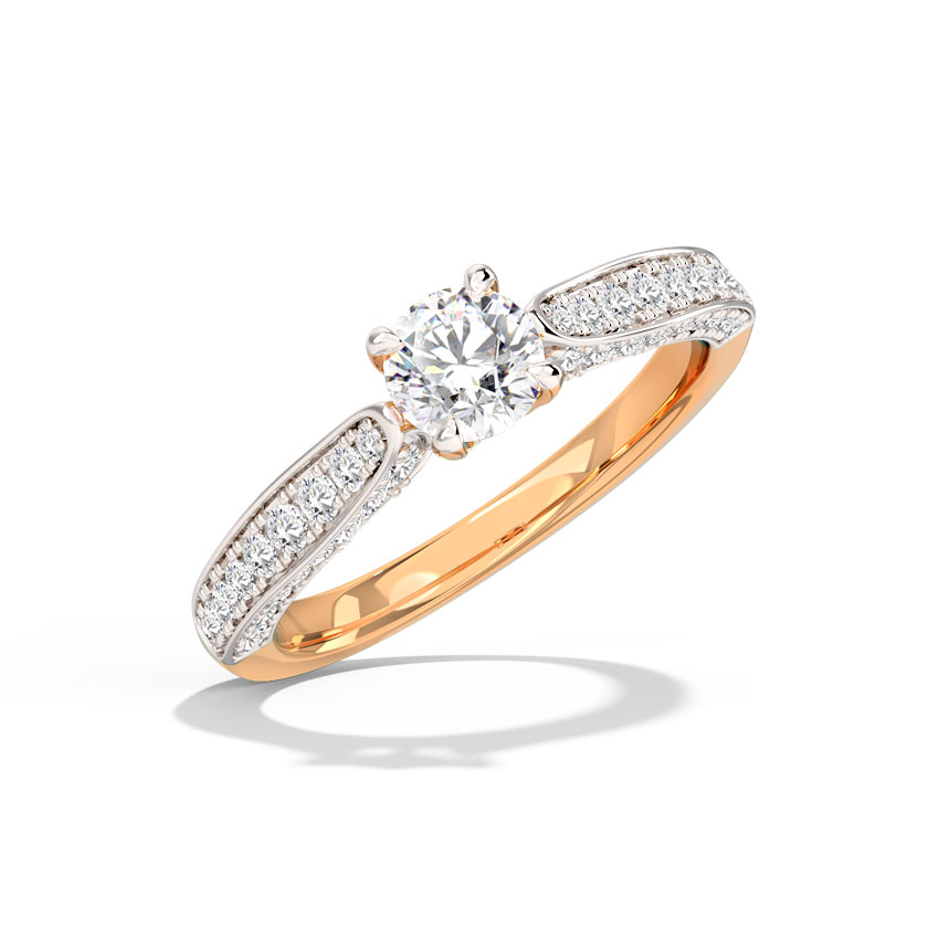 Solitaire Rings 18 Karat Rose Gold Tasha Solitaire Ring
