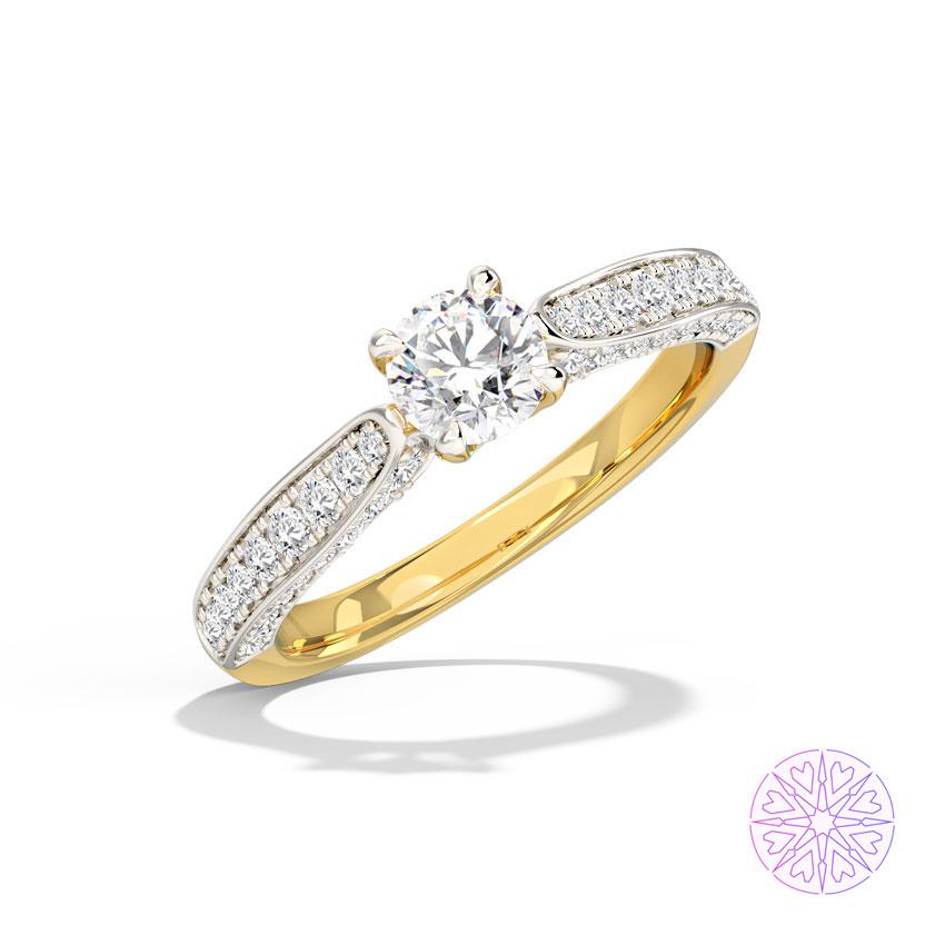 Solitaire Rings 14 Karat Yellow Gold Tasha Solitaire Ring
