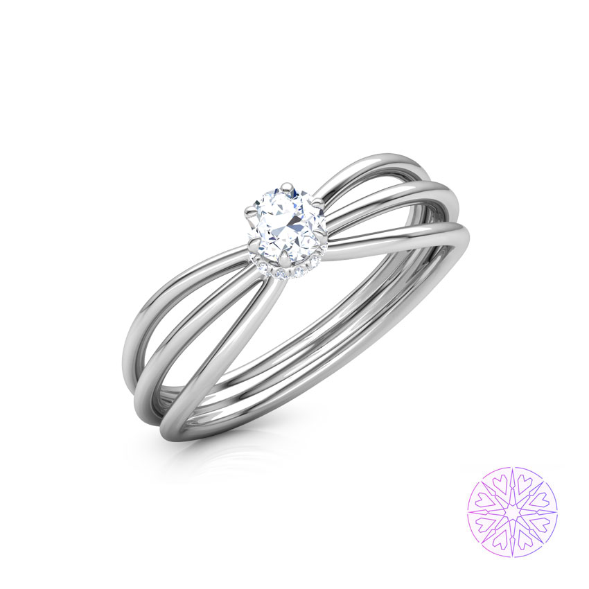 Solitaire Rings 18 Karat White Gold Adara Solitaire Ring
