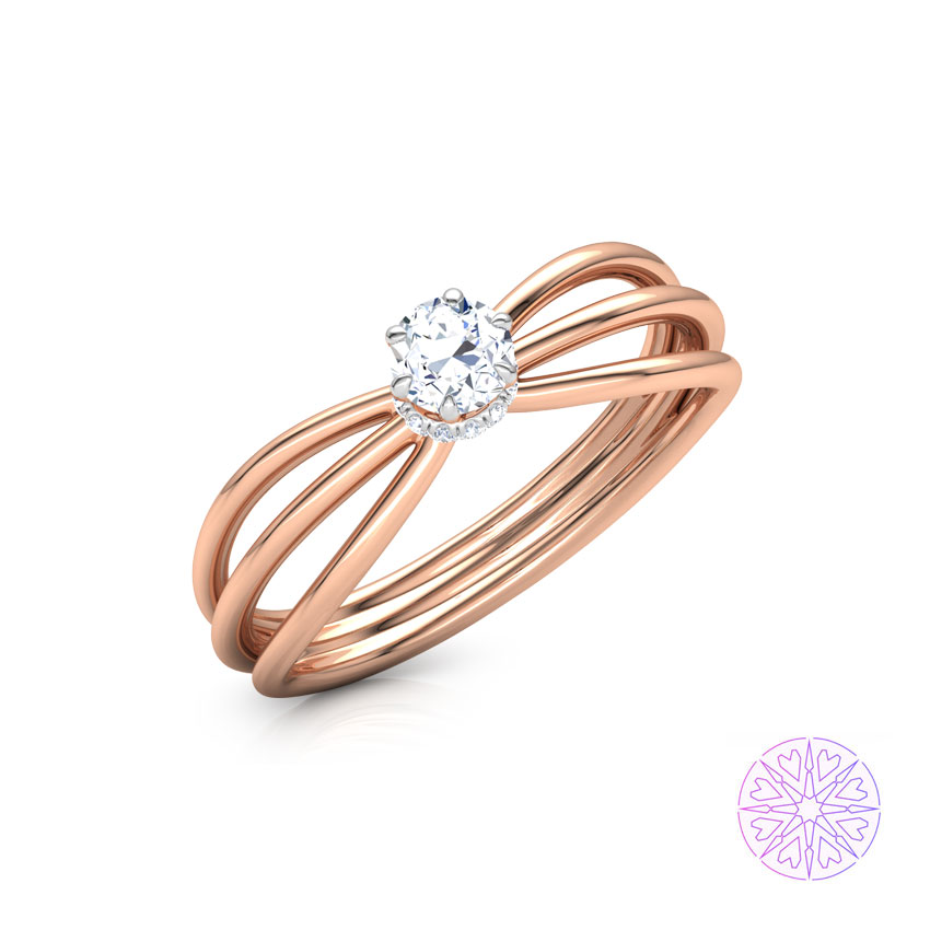 Adara Hearts & Arrows Solitaire Ring